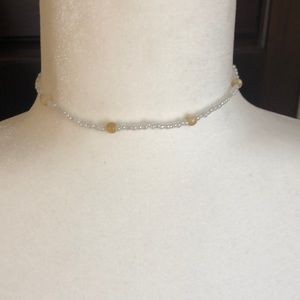 Choker necklace handmade with silver claw clasp